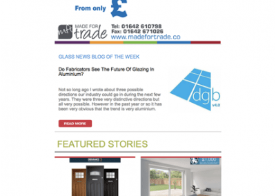 Glass News Mailers