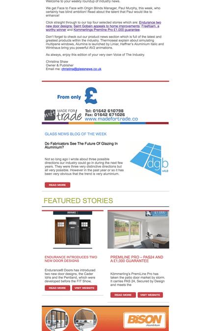 Glass News Mailers